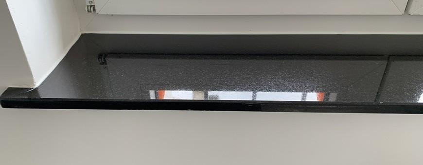 TABLETTES - APPUI DE FENÊTRES /INTÉRIEURE /MARBRE BLACK